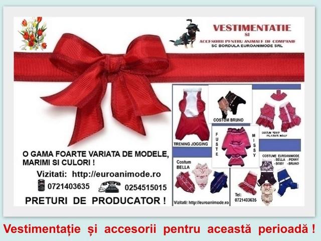 Vestimentatie si accesorii pentru animale de companie